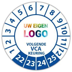 Keuringssticker volgende VCA keuring op rol